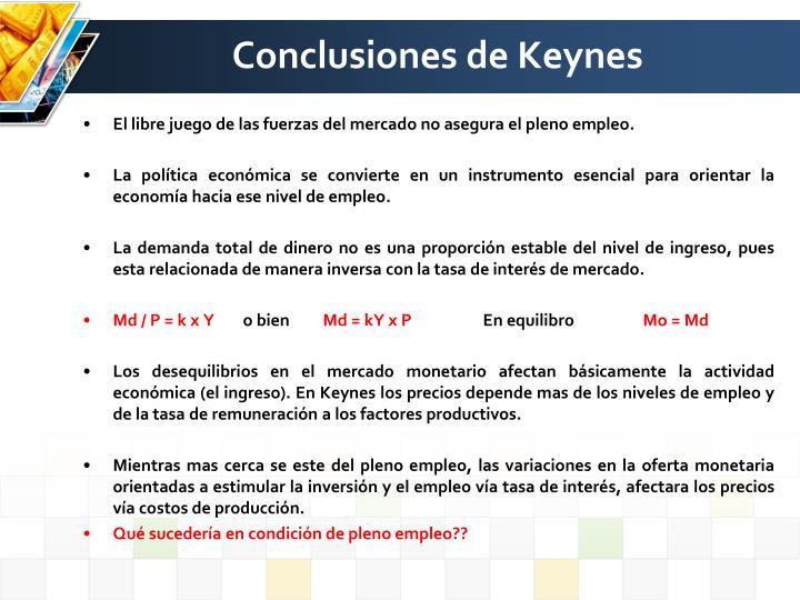 Conclusiones de Keynes