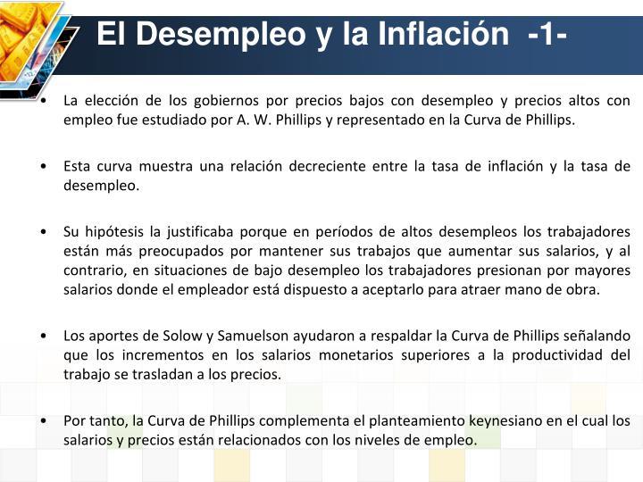 El Desempleo y la Inflación  -1-