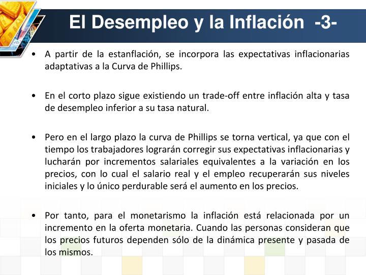 El Desempleo y la Inflación  -3-