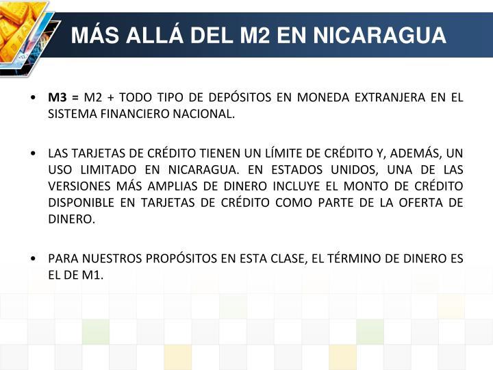 MÁS ALLÁ DEL M2 EN NICARAGUA