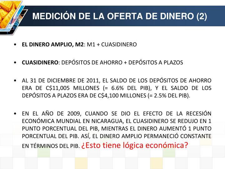 MEDICIÓN DE LA OFERTA DE DINERO (2)