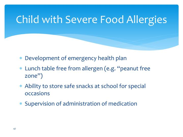 Child with Severe Food Allergies