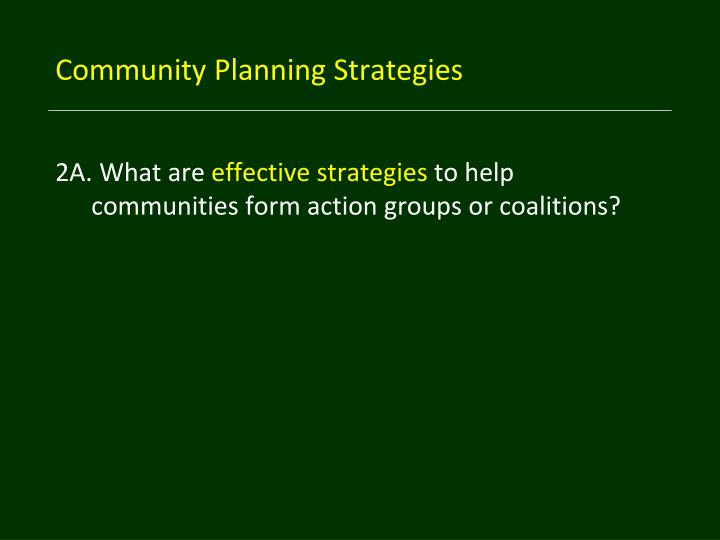 Community Planning Strategies
