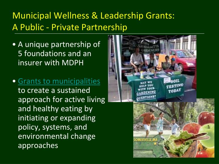 Municipal Wellness & Leadership Grants: