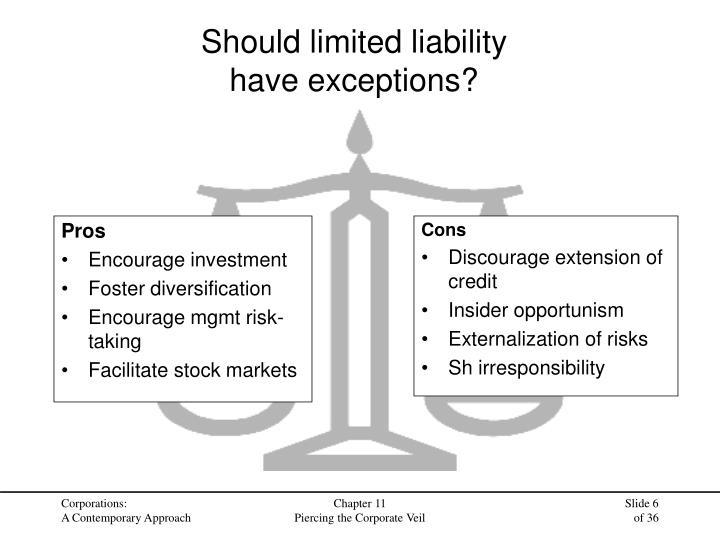 Should limited liability