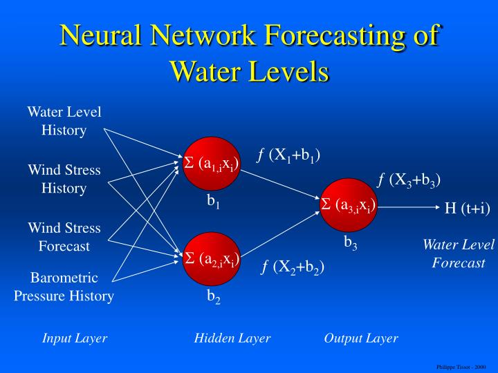 Neural Network Forecasting of Water Levels