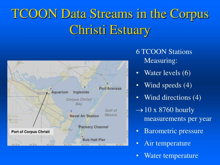 TCOON Data Streams in the Corpus Christi Estuary