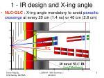 1 ir design and x ing angle
