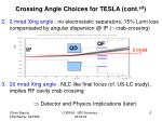 crossing angle choices for tesla cont ed