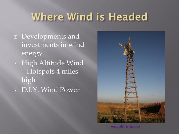 Where Wind is Headed