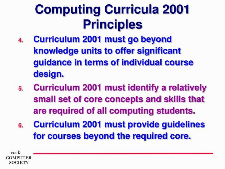 Computing Curricula 2001