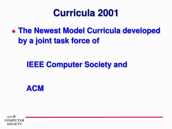 Curricula 2001