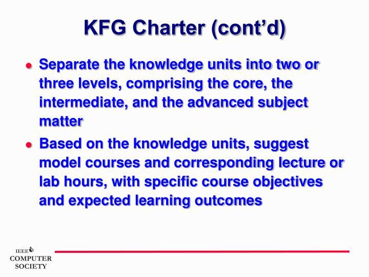 KFG Charter (cont'd)