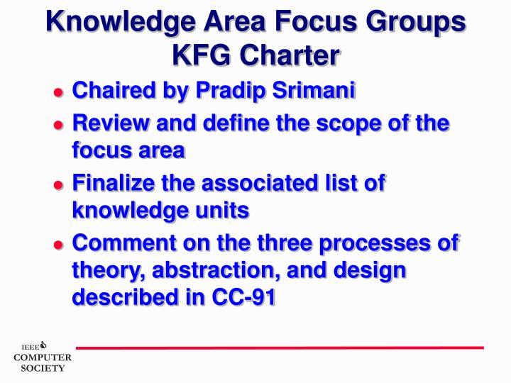Knowledge Area Focus Groups