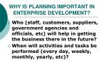 why is planning important in enterprise development1