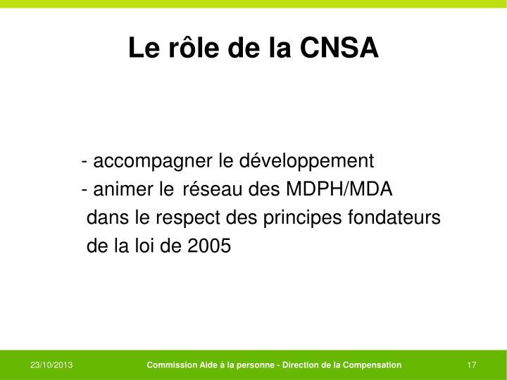 Le rôle de la CNSA