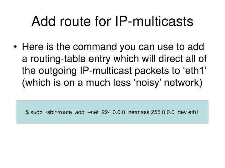 Add route for IP-multicasts