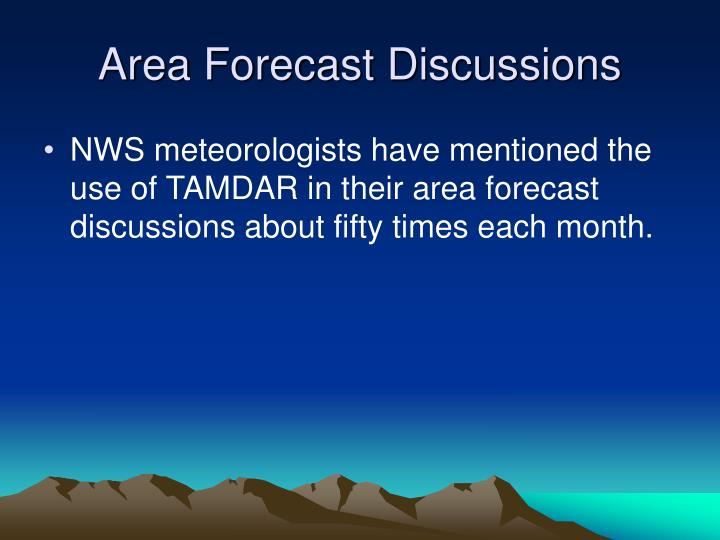 Area Forecast Discussions