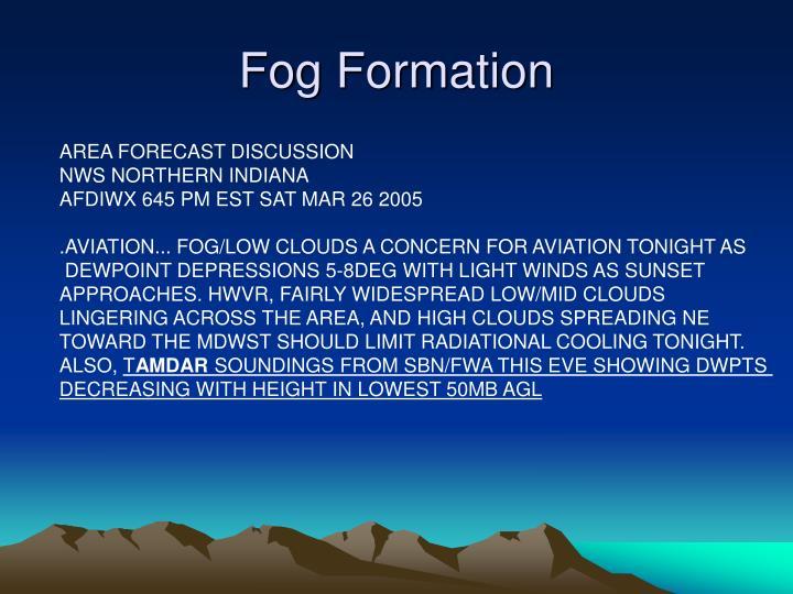 Fog Formation