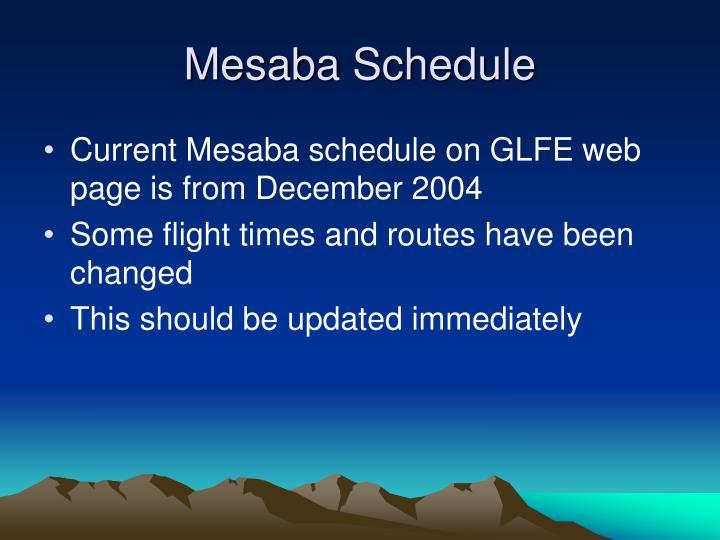 Mesaba Schedule