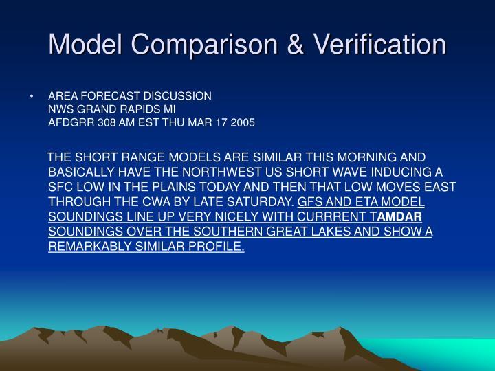 Model Comparison & Verification