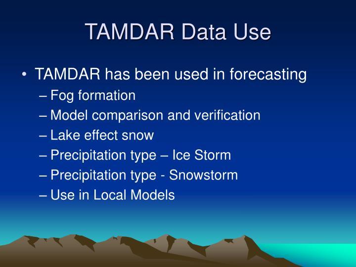 TAMDAR Data Use