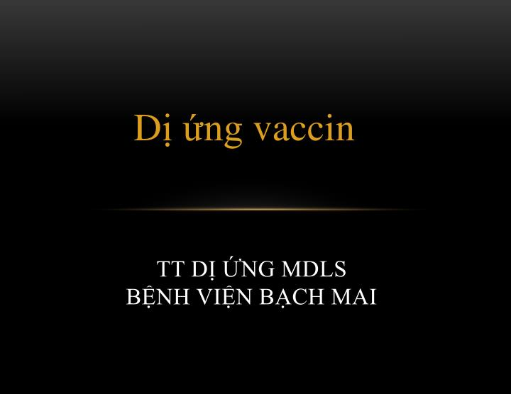 TT DỊ ỨNG MDLS