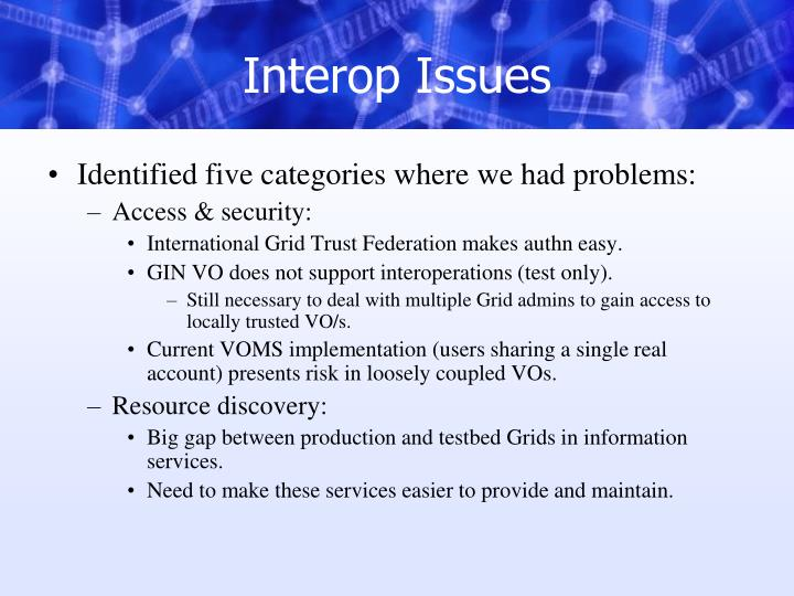 Interop Issues