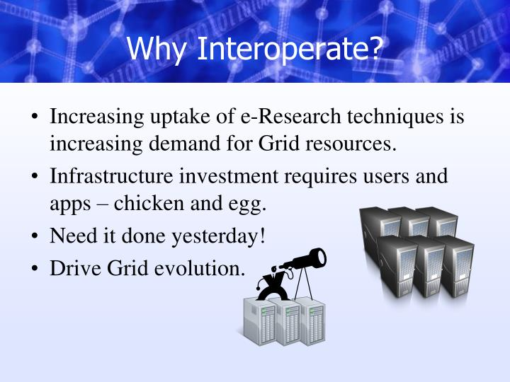 Why Interoperate?