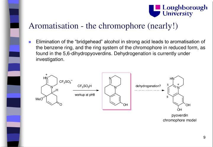 Aromatisation - the chromophore (nearly!)