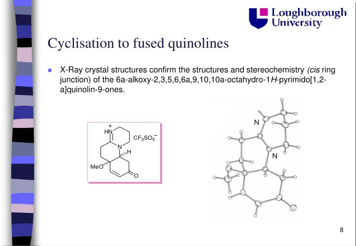 Cyclisation to fused quinolines