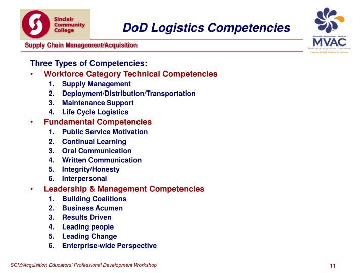 DoD Logistics Competencies