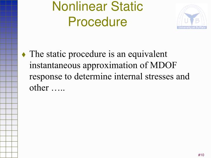 Nonlinear Static Procedure