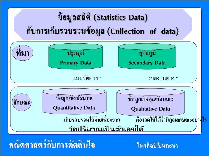 ข้อมูลสถิติ (Statistics Data)