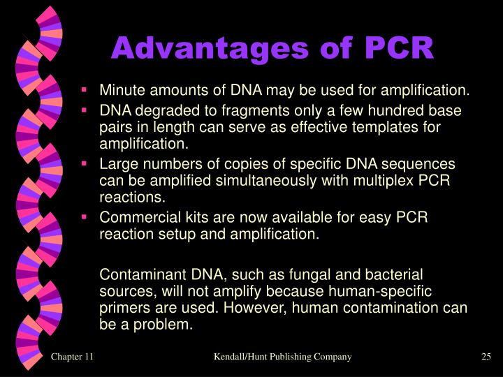 Advantages of PCR