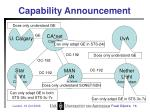capability announcement