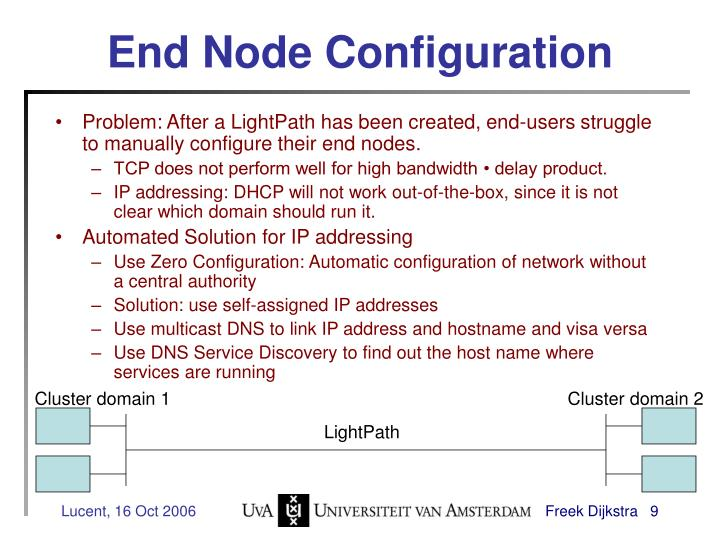 End Node Configuration