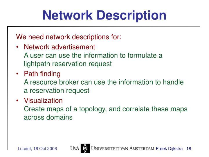 Network Description
