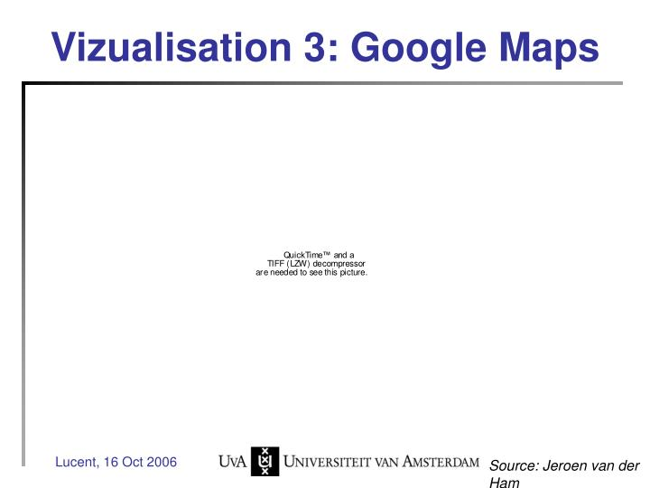 Vizualisation 3: Google Maps
