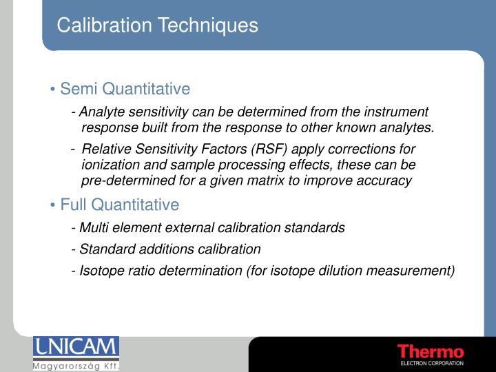 Calibration Techniques