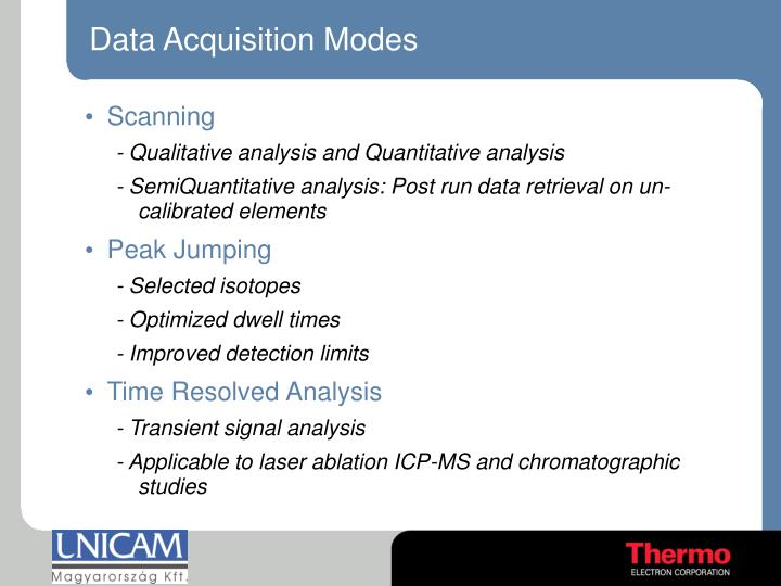 Data Acquisition Modes