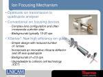ion focusing mechanism