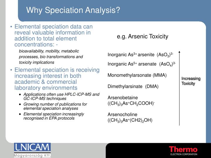 Why Speciation Analysis?