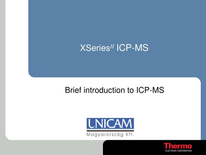 Xseries ii icp ms