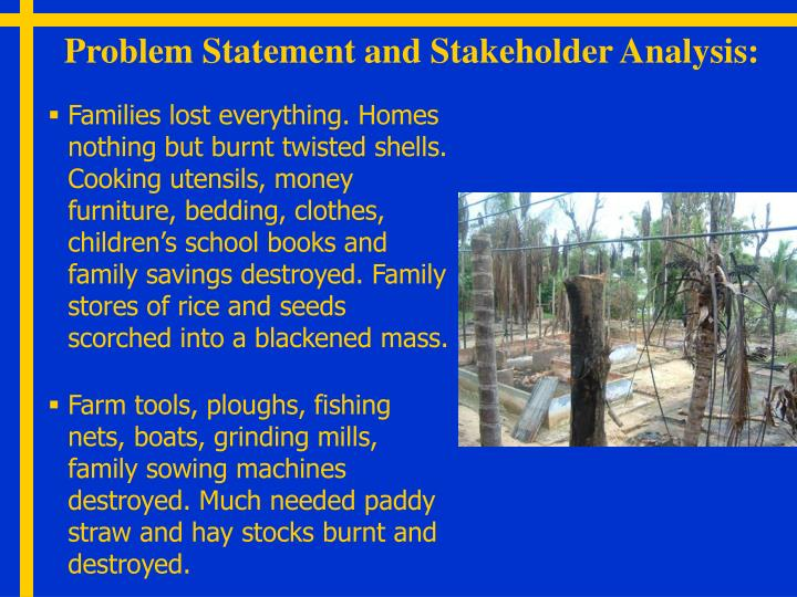 Problem Statement and Stakeholder Analysis: