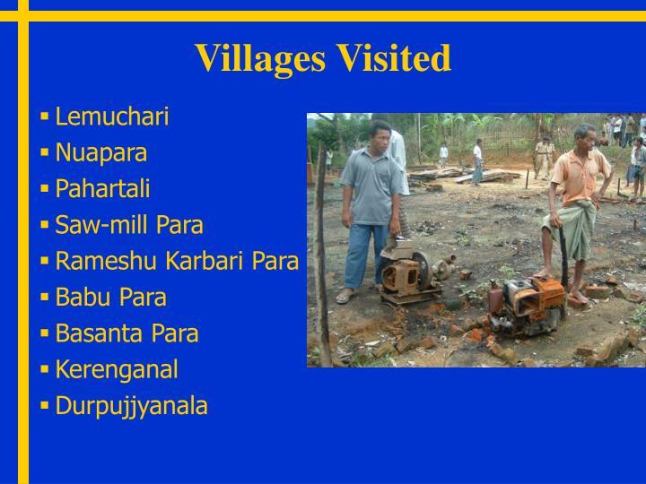 Villages Visited