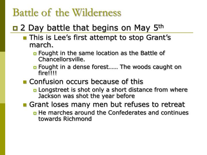Battle of the Wilderness