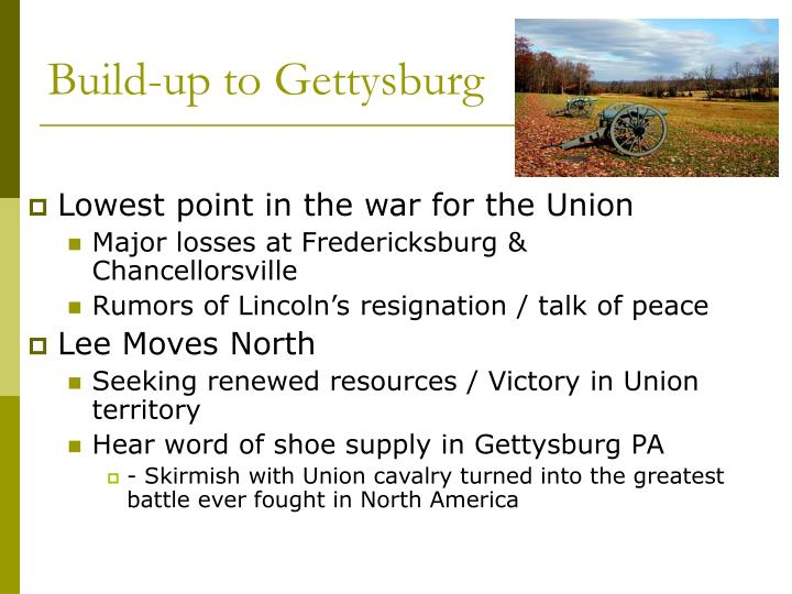 Build-up to Gettysburg