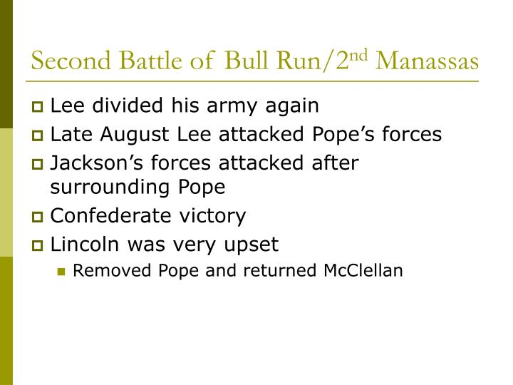 Second Battle of Bull Run/2