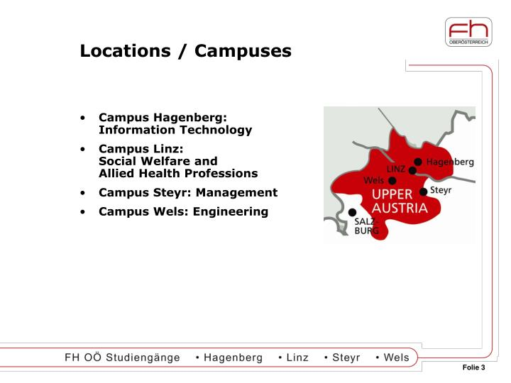 Locations / Campuses